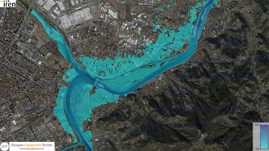 Gruppo ingegneria Torino - Analisi idrauliche e simulazione dei flussi fiume Po