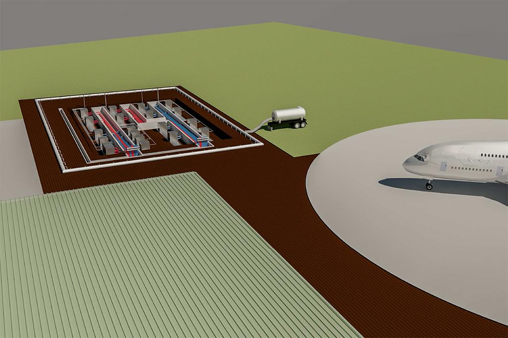 Progettazione esecutiva per nuovo deposito carburante aeronautico