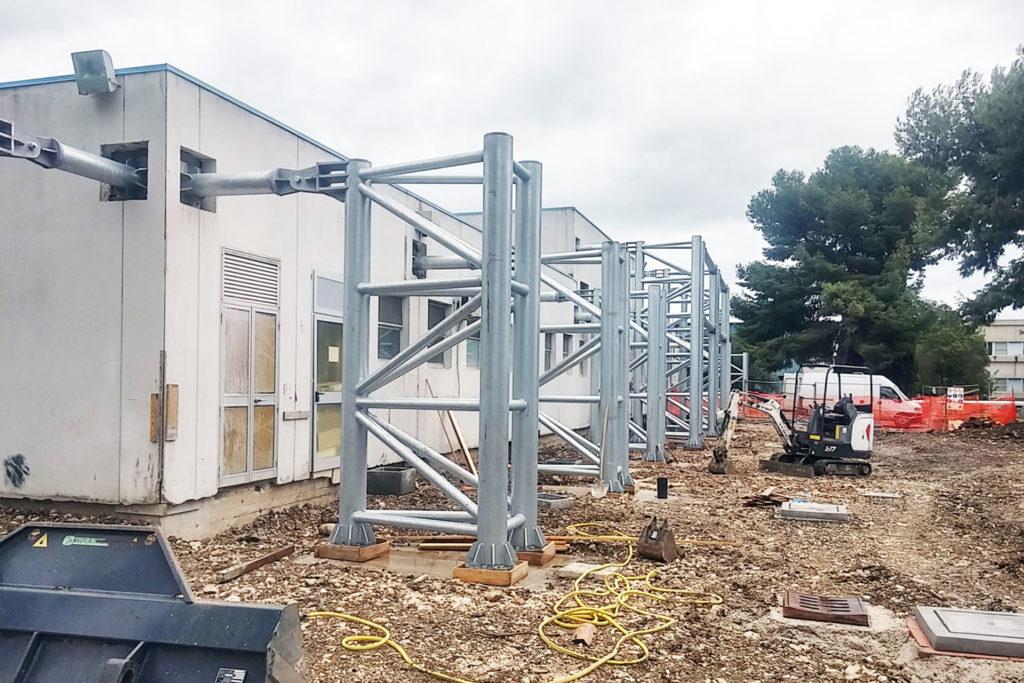 Consolidamento sismico di un fabbricato mensa in sito industriale a Foggia
