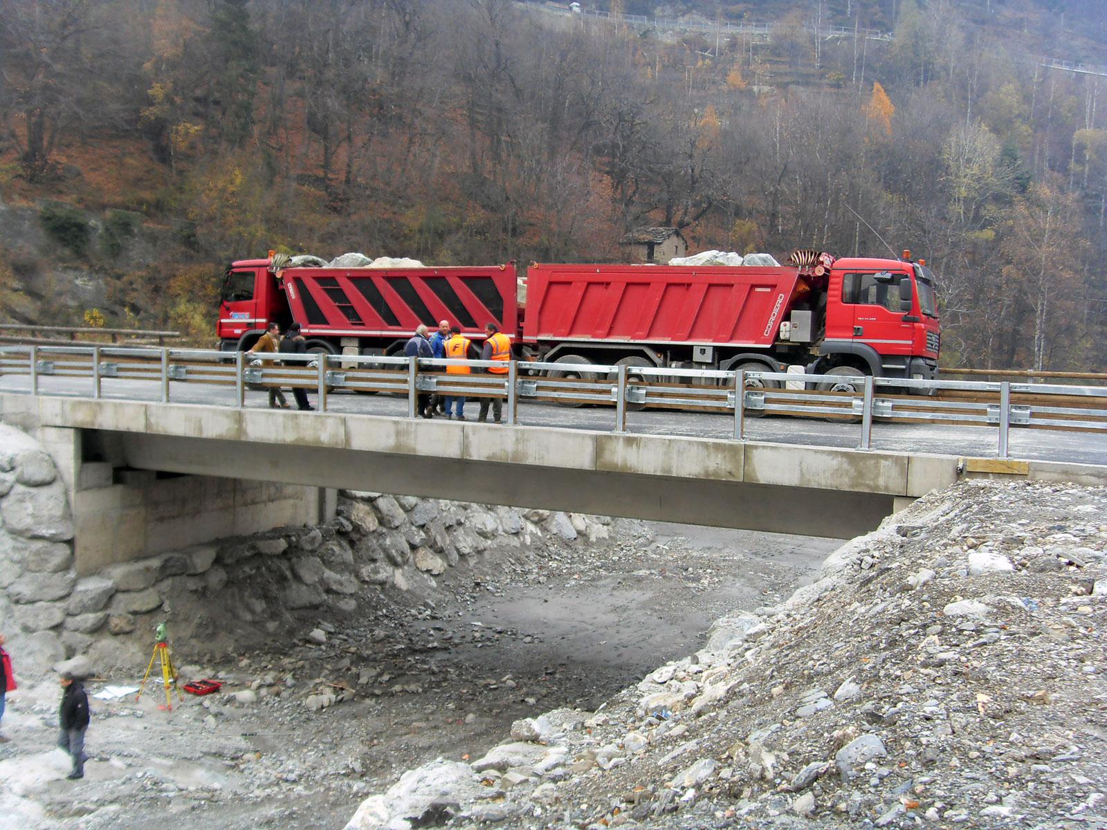 Gruppo Ingegneria Torino - Raddoppio campata ponte nel comune di Exilles